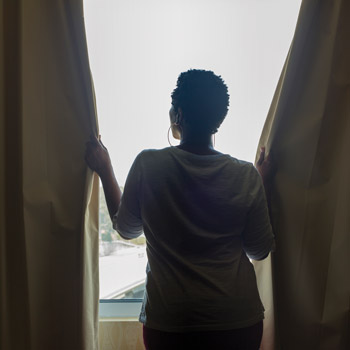 A simple act such as asking patients to open the curtains during a telemedicine visit does more than make them more visible Letting in sunlight might relieve symptoms of anxiety and isolation for tho